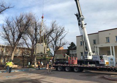 Crane lifting an object