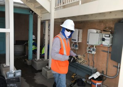 Man working on electrical
