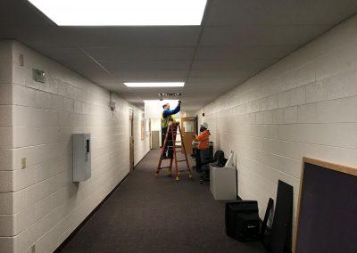 Men installing lighting